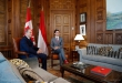 Prince Albert visits Canadian Prime Minister Justin Trudeau