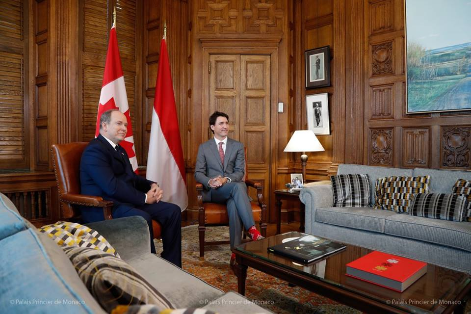 Photo of Prince Albert visits Canadian Prime Minister Justin Trudeau and other princely news