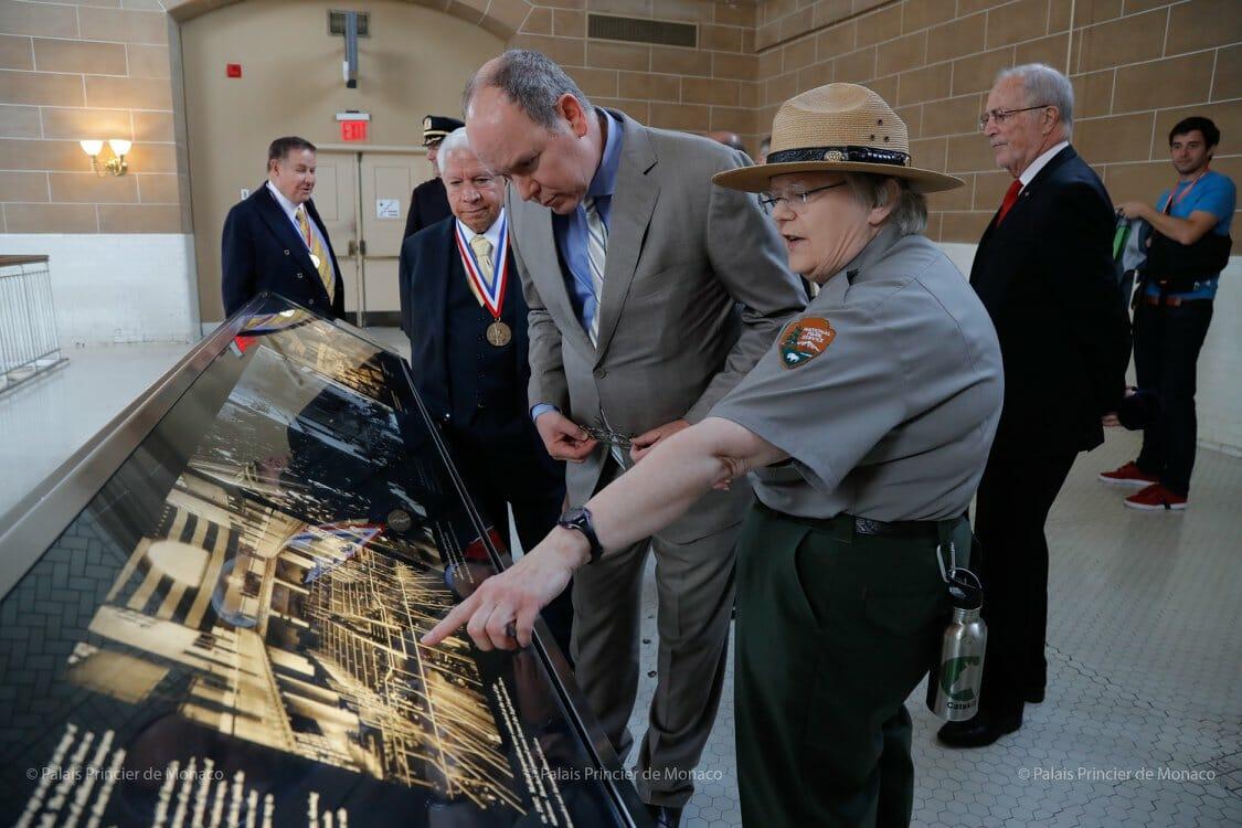 Prince Albert II visited Ellis Island