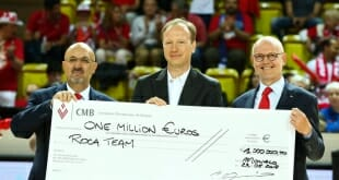 One Million Euro check AS Monaco Basket