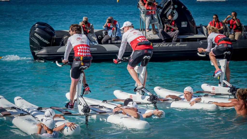 Photo of Bike on Water: athletes throng to support the Princess Charlene Foundation
