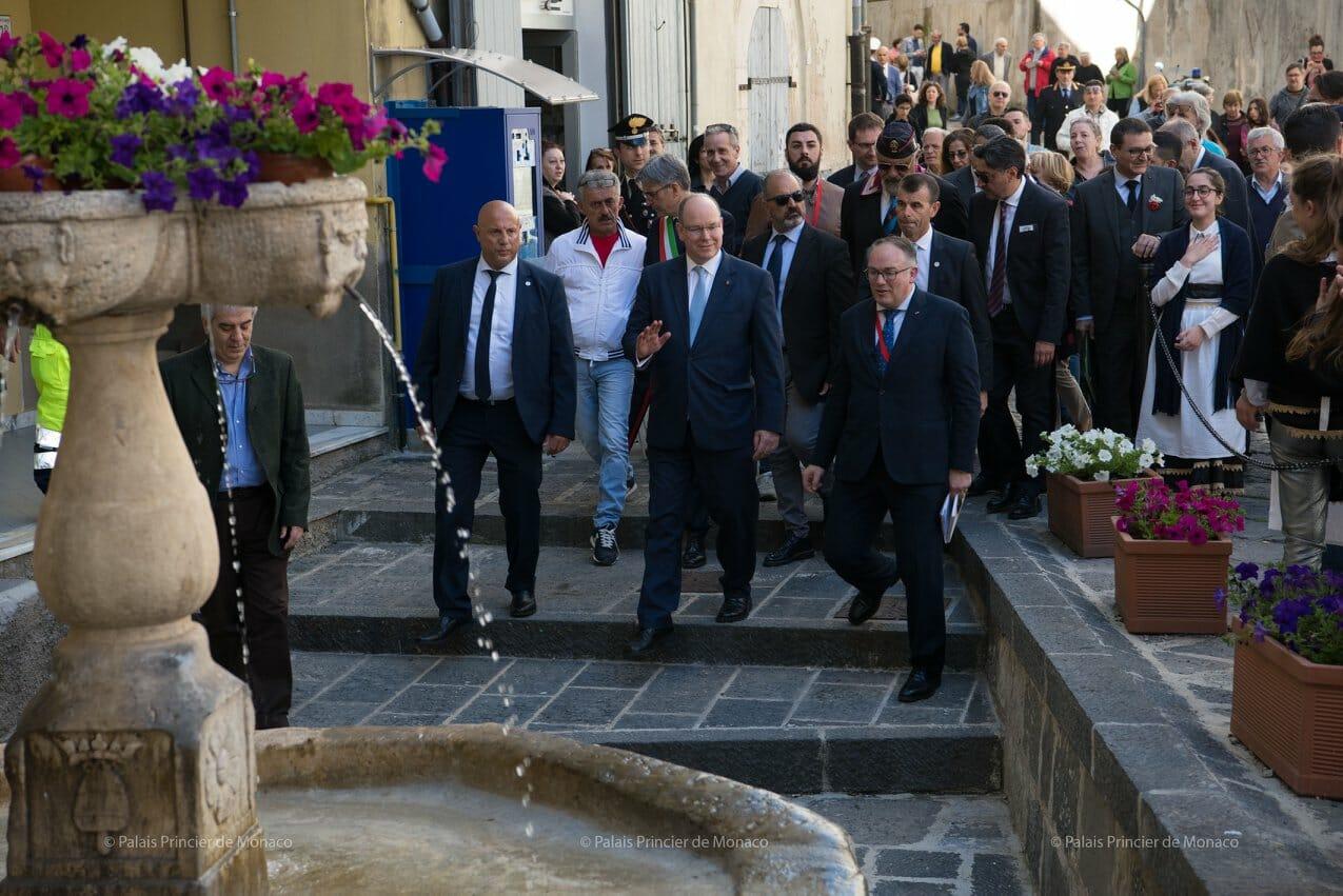 Prince Albert II in Naples