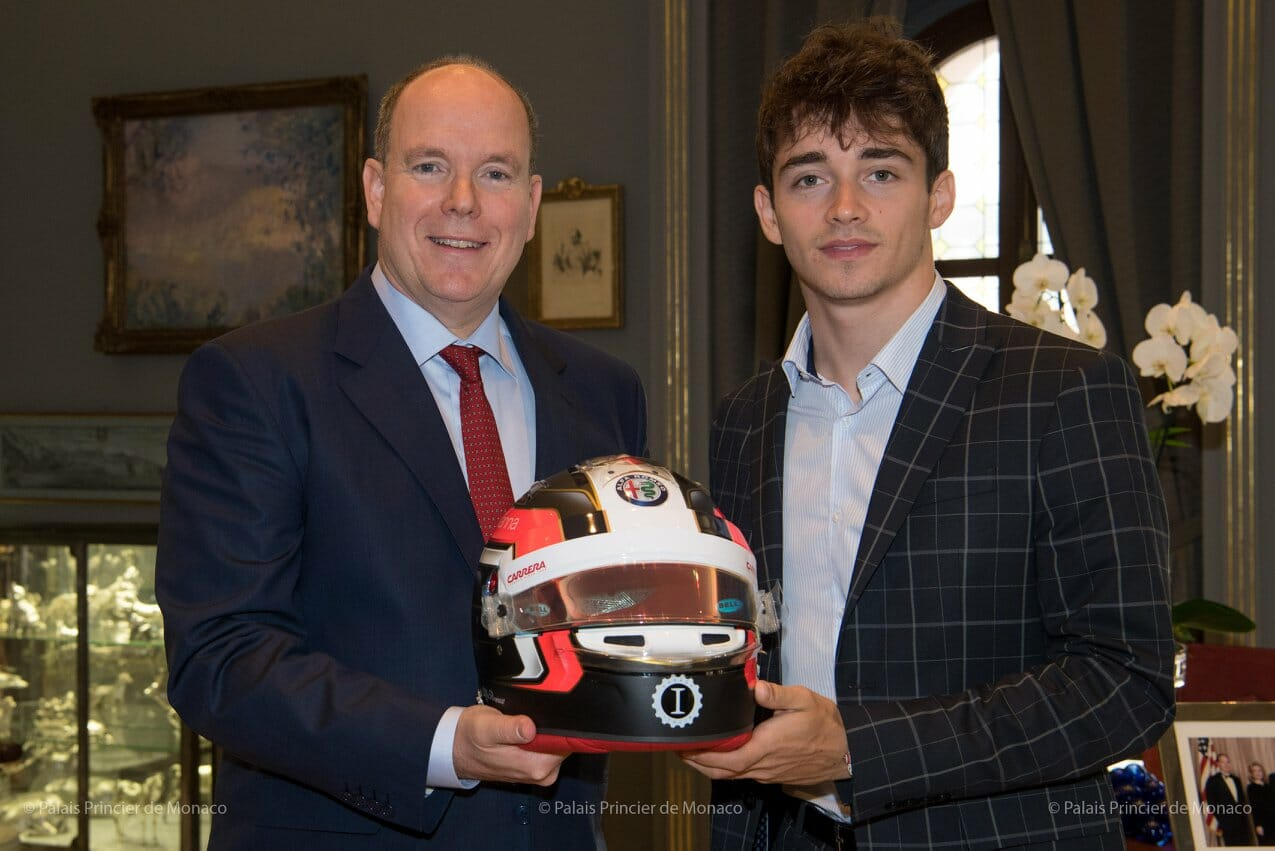 Prince Albert and Charles Leclerc