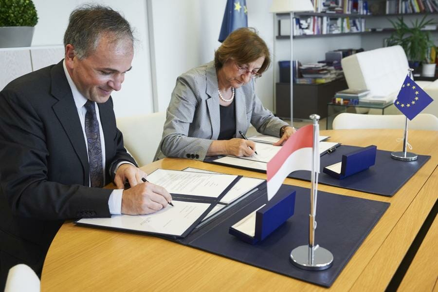 Photo of Signature of a Bi-annual Cooperation Agreement between Monaco and the Council of Europe