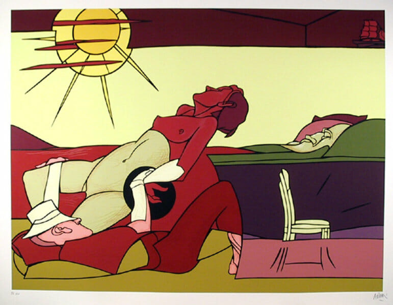 Valerio Adami's Paintings