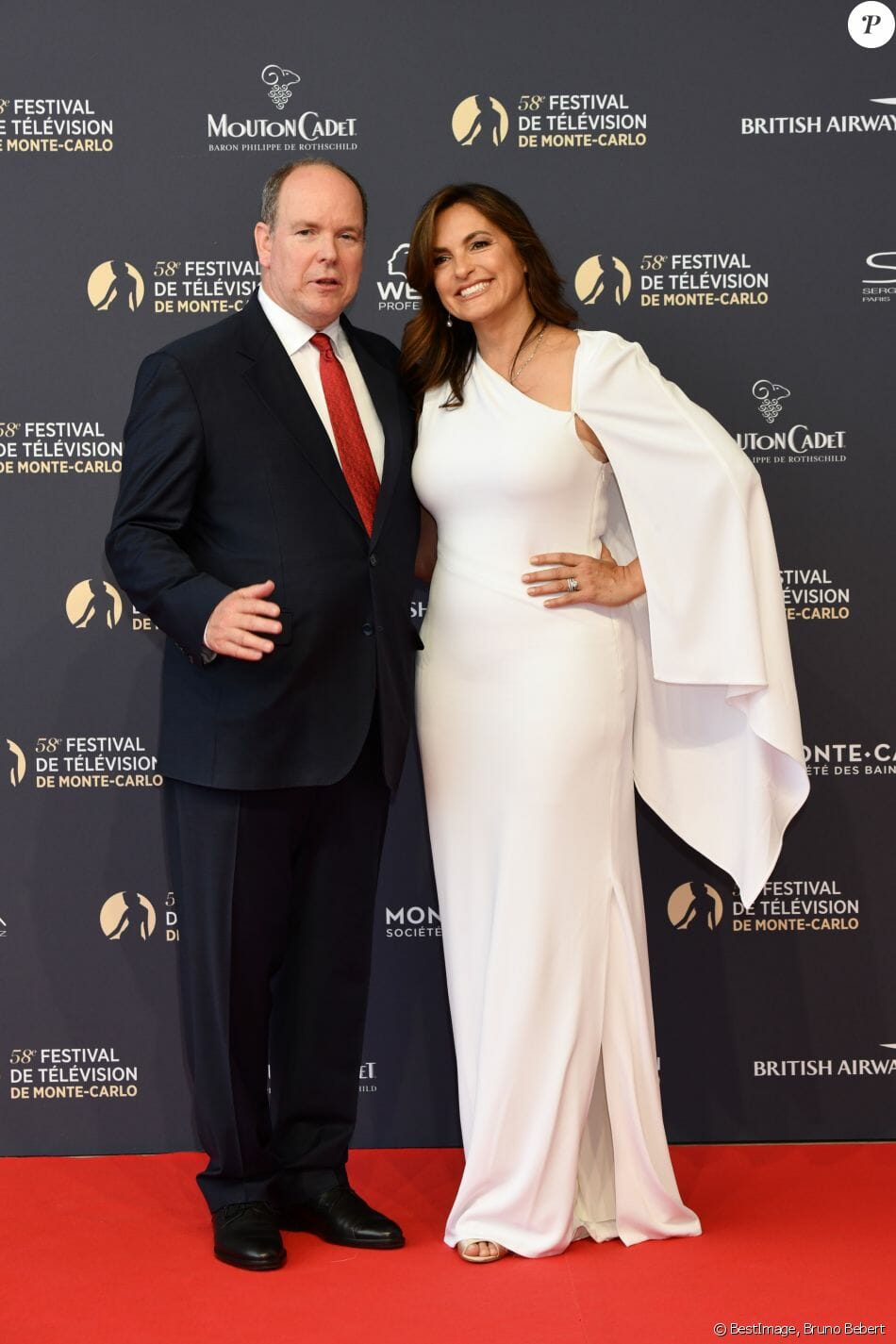 Prince Albert II attended the evening with Law & Order- SVU star Mariska Hargitay