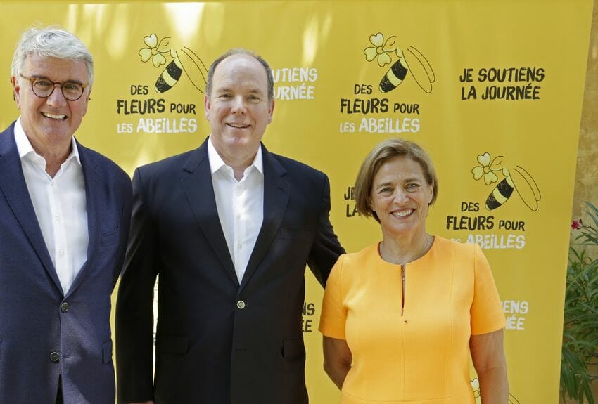 Prince Albert II plants Flowers for Bees