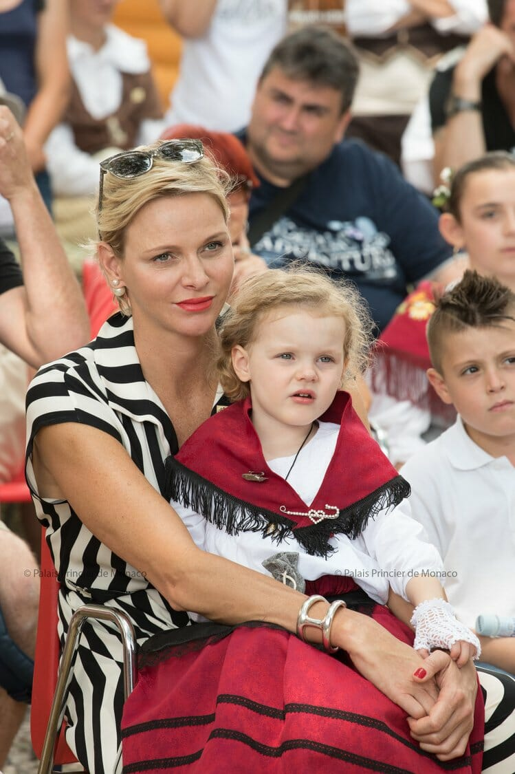 Princess Charlene and Princess Gabriella 1st Historic Grimaldi Sites Meeting