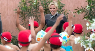 Princess Charlene swimming