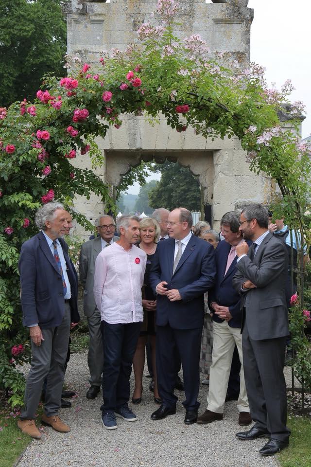 Prince Albert II inaugurated two new roses