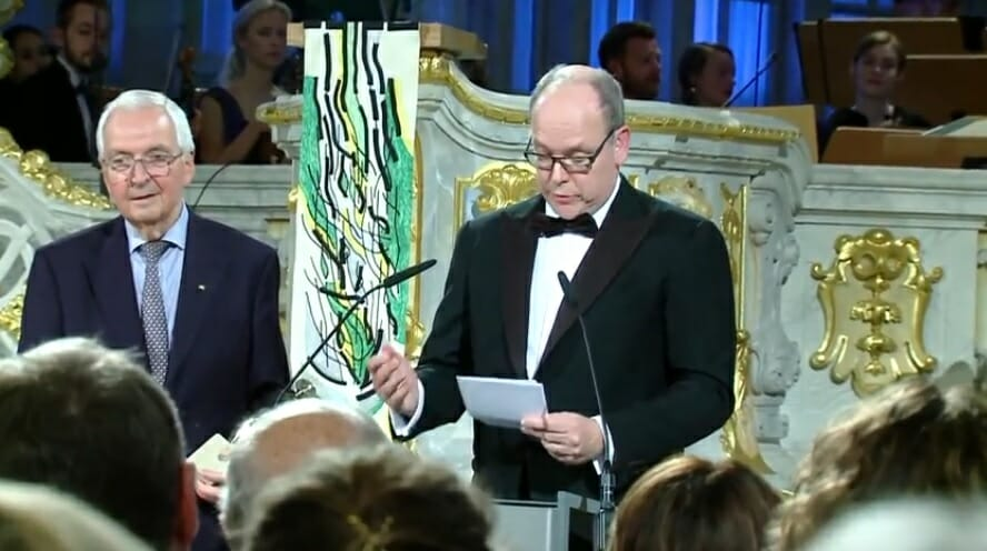 Prince Albert receives European Initiative Prize
