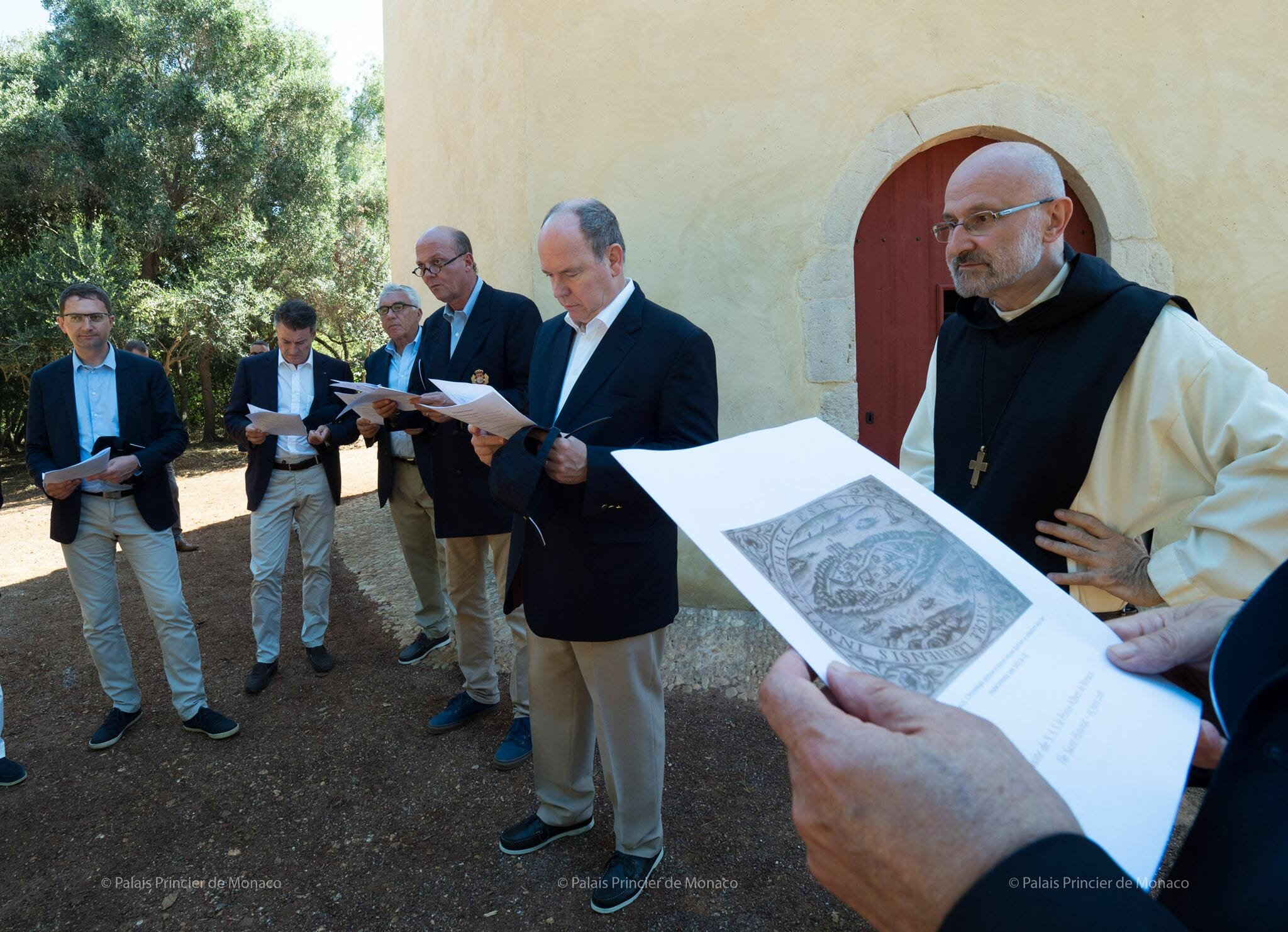 Prince Albert visits Île Saint-Honorat