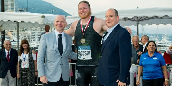 Prince attended the first events of the Herculis EBS International Athletics