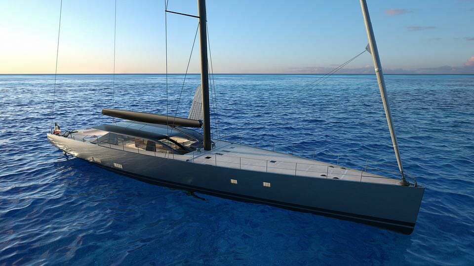 42-metre sailing yacht E-volution