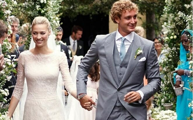 Pierre Casiraghi and Beatrice Borromeo at their wedding