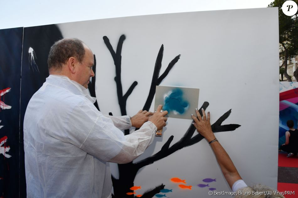 Prince Albert attended the 2nd 'Urban Painting Around The World'