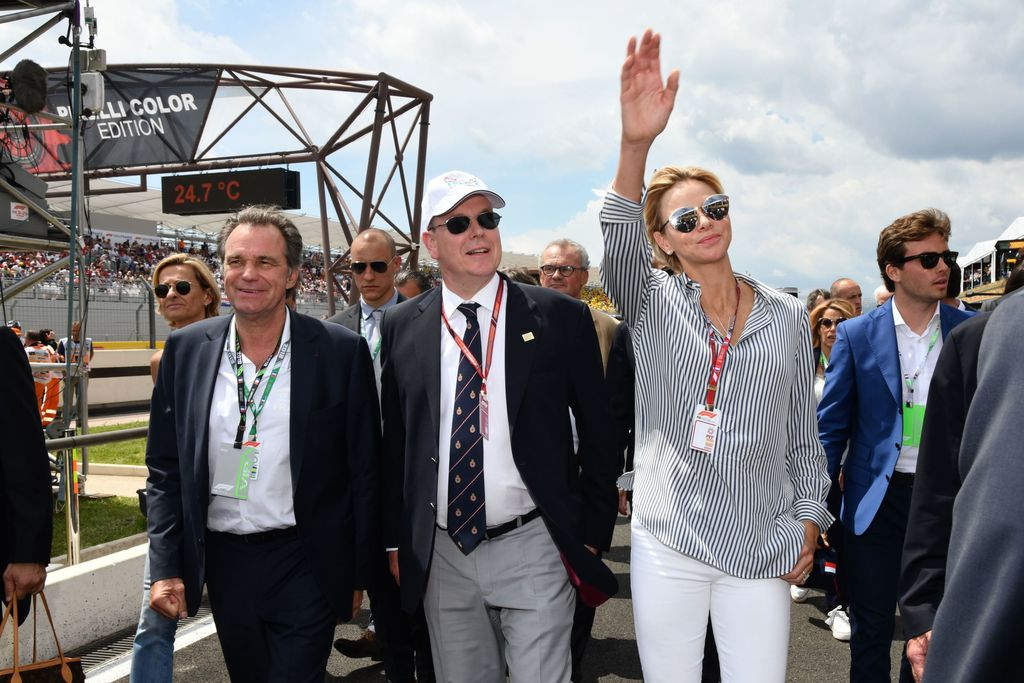 Prince Albert and Princess Charlene at French Grand Prix