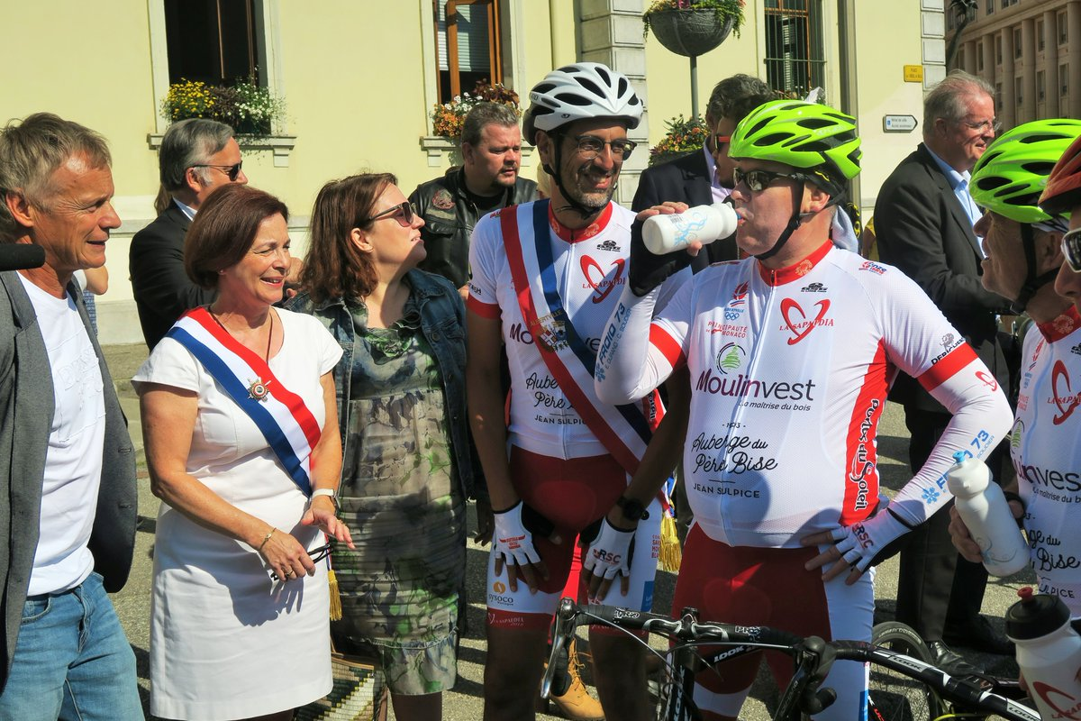 Prince Albert at Sapaudia bike race