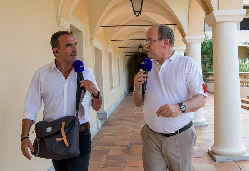 Prince Albert interview Nikos Aliagas Europe 1