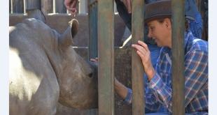 Дела княжеские: княгиня Шарлен посетила приют носорогов в провинции Лимпопо