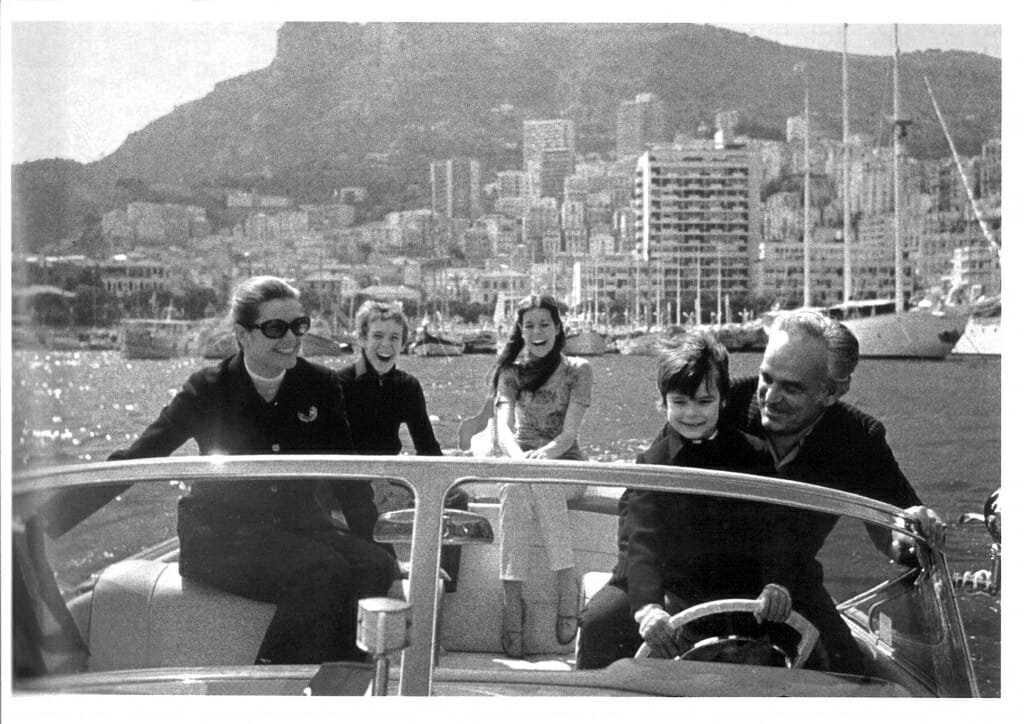 Prince of Monaco Rainier III and his family 1971