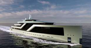 100-metre superyacht concept by Isaac Burrough Design