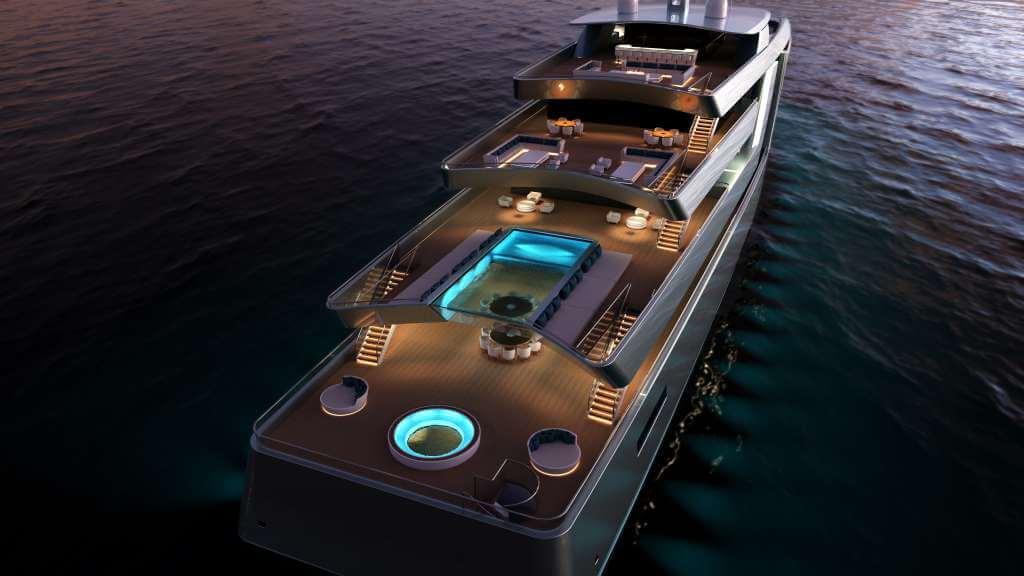 100-metre superyacht concept by Isaac Burrough Design