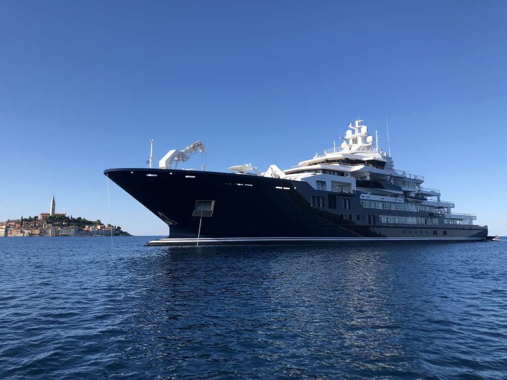116-metre explorer superyacht Ulysses in Rovinj, Croatia