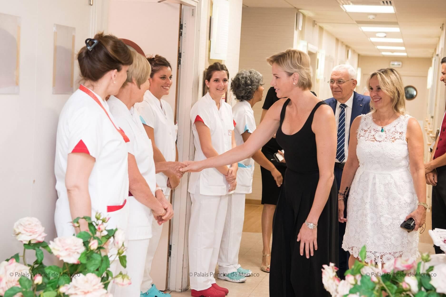 Princess Charlene visited Résidence a Qietüdine