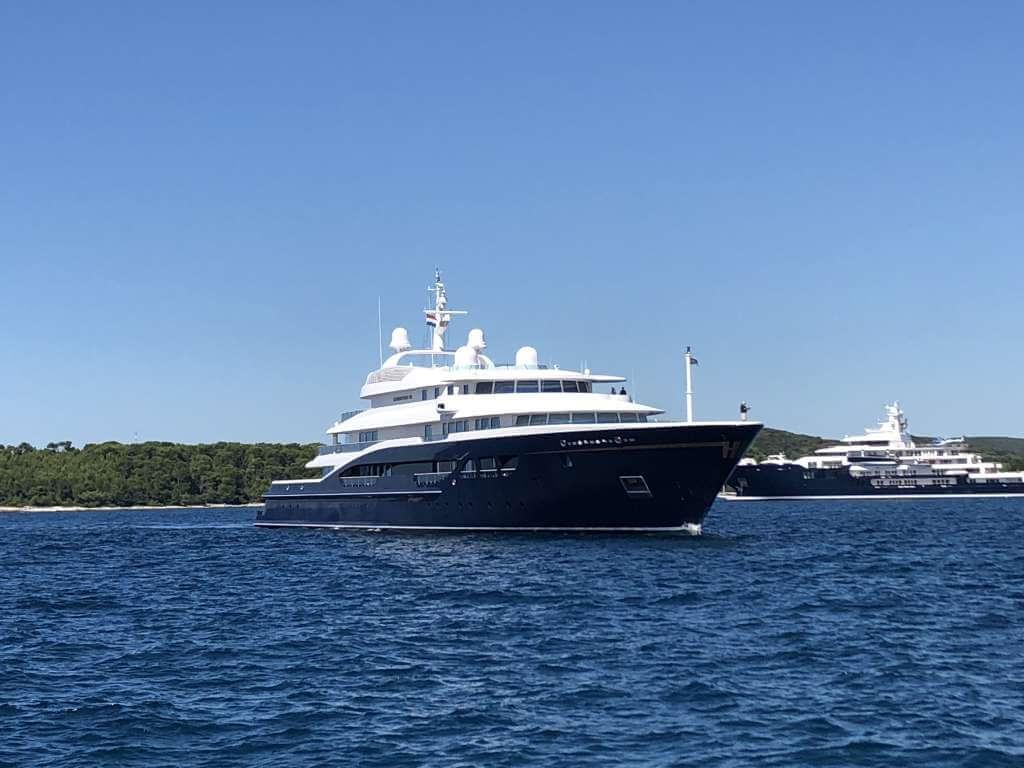 97-metre superyacht Carinthia VII in Rovinj, Croatia