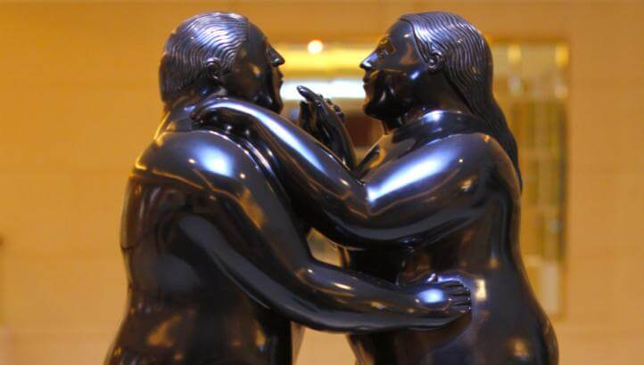 "The ""Dancing Couple"" by Botero"