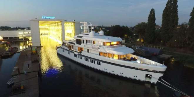First ice-class Feadship leaves construction hall