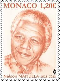 Nelson Mandela Stamp Monaco