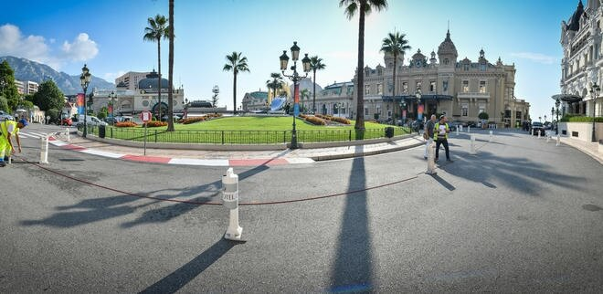 New road layout for Place du Casino