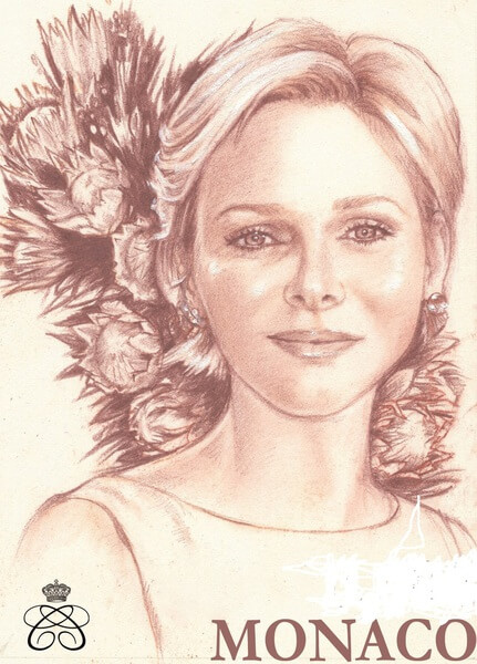 Princess Charlene stamp Monaco