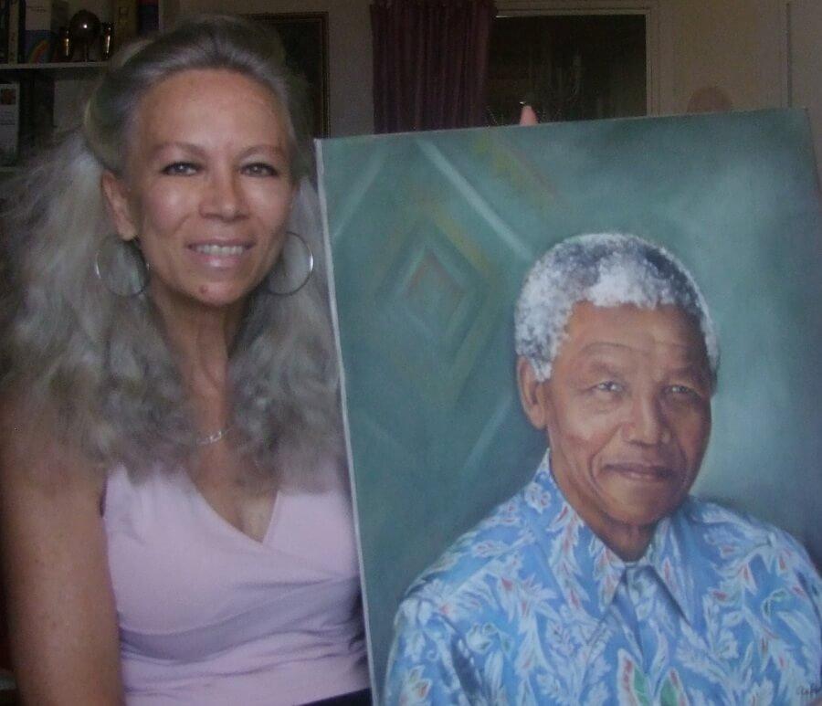 Stéfanie van Zyl Nelson Mandela portrait