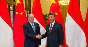 Prince Albert meets President of China