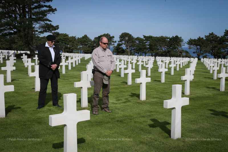 Prince Albert commemorates Battles of Normandy