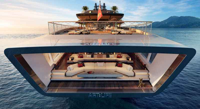 115-metre superyacht concept Art of Life by Sinot