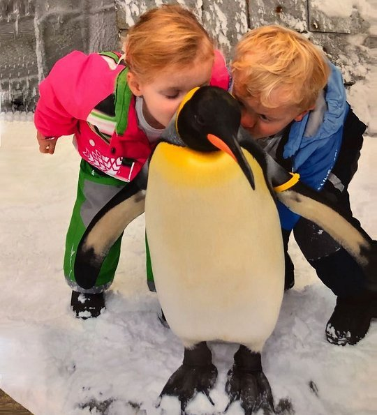 Princess Gabriella and Prince Jacques visited a zoo