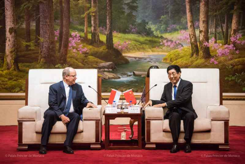 Prince Albert visits China