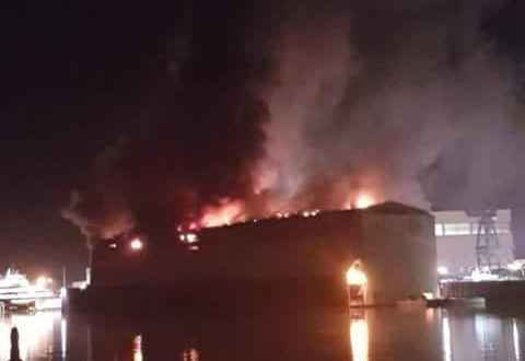 Fire breaks out at Lurssen damaging 100m+ new buil