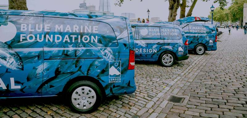Blue Marine Foundation Cycle To The Palace In Support Of The Oceans