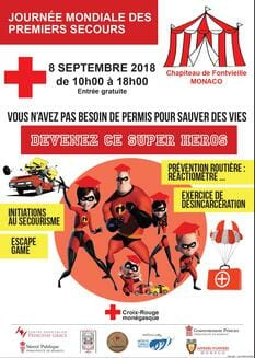 International First Aid Day at Chapiteau de Fontvieille