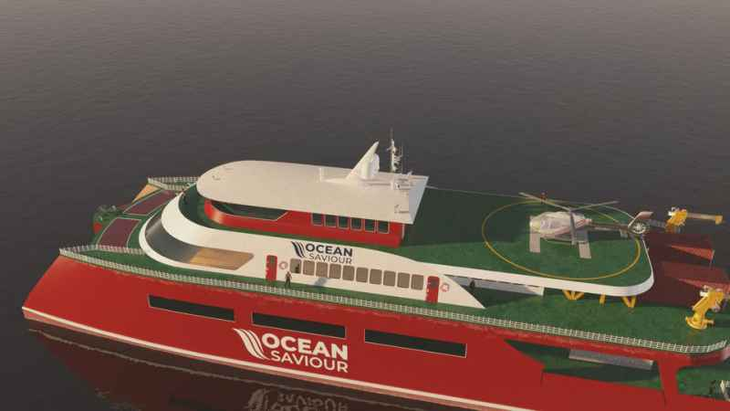 World-first self-powering 70-meter tri-deck vessel