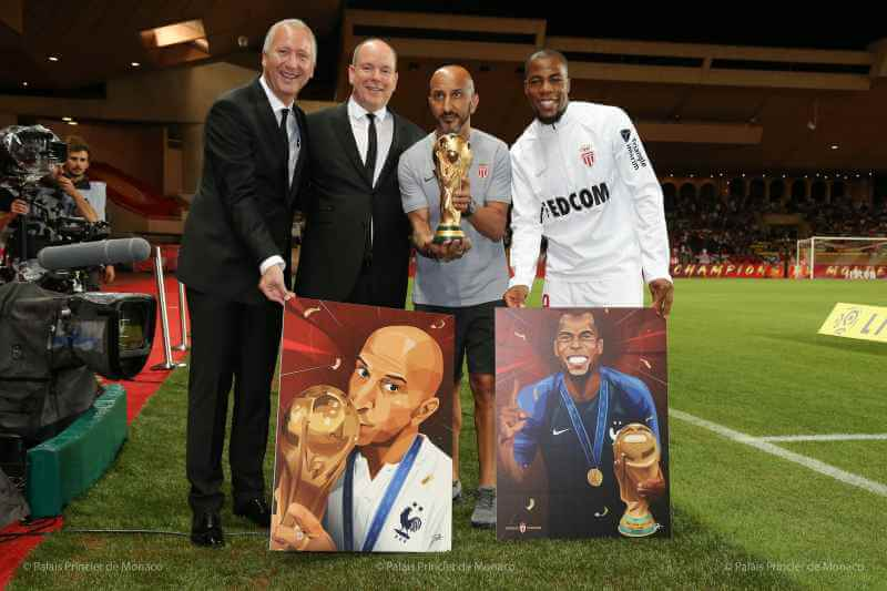 Prince Albert presents FIFA World Cup trophy in Monaco