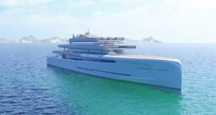 106-meter invisible superyacht concept Mirage