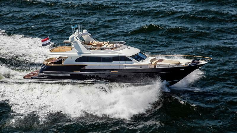 23-meter superyacht Joy delivered to a client in the Mediterranean