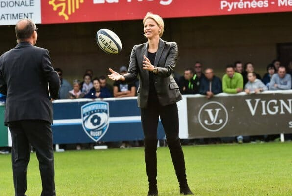 Princess Charlene watched Montpellier v Toulon rugby match