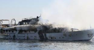 42-meter superyacht Lalibela has been destroyed by fire